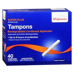 Walgreens Tampons, Super Plus- 40 ea