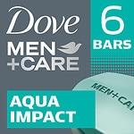 Dove Men+Care Body & Face Bar, Aqua Impact, 6 Pack