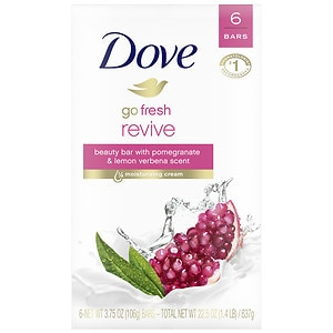Dove gofresh, Bath Bar Soap, Revive, 6 ea