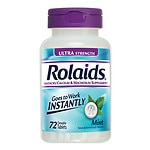 Rolaids Ultra Strength Tablets, Mint- 72 ea