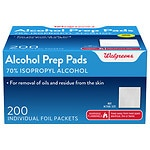 Walgreens Alcohol Prep Pads Isopropyl Alcohol 70%- 200 ea
