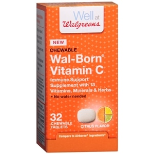 Walgreens Wal-Born Vitamin C Immune Support Supplement Chewable Tablets, Citrus