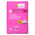 Walgreens Certainty Women's Bladder Protection Pads Regular Length- 33 ea