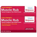 Walgreens Muscle Rub Pain Relief Cream- 2 oz