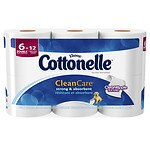 Cottonelle Clean Care Toilet Paper, Double Roll- 6 ea