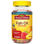 Nature Made Fish Oil Adult Gummies, Orange, Lemon & Strawberry- 150 ea