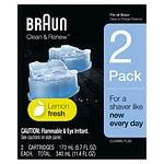 Braun Clean & Renew Cartridge Refill- 2 ea