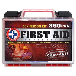 Be Smart Get Prepared First Aid 50-Person Kit, 250 Pieces, 1 kit