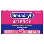 Benadryl Allergy Ultratab Tablets- 100 ea