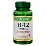 Nature's Bounty Vitamin B-12 1000mcg Tablets, Value Size- 200 ea