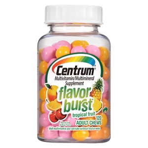 Centrum Flavor Burst Chews Adult Multivitamins, Tropical Fruit- 120 ea