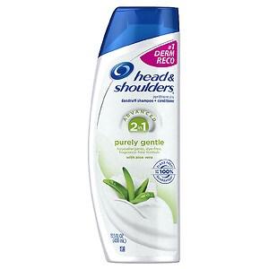 Head & Shoulders Purely Gentle Scalp Care 2in1 Dandruff Shampoo + Conditioner, 13.5 fl oz