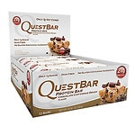 QuestBar Protein Bars, Chocolate Chip Cookie Dough, 12 pk- 2.05 oz