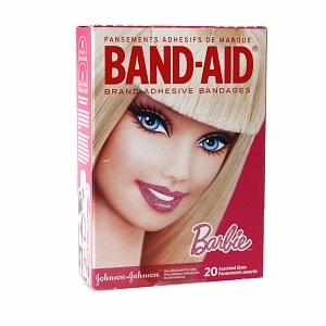 Band-Aid Adhesive Bandages, Barbie