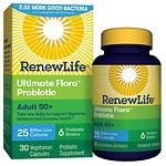 ReNew Life Ultimate Flora Adult 50+ Daily Probiotic 25 Billion, Delayed Release Capsules- 30 ea