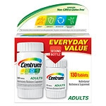 Centrum Adults Under 50 Multivitamins Bonus Size, Tablets- 130 ea