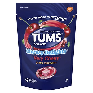 Tums Chewy Delights, Very Cherry- 32 ea