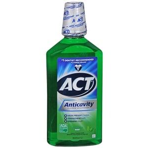 ACT Anticavity Fluoride Rinse, Mint- 33.8 fl oz