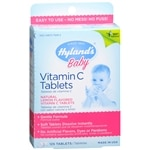 Hyland's Baby Vitamin C Dietary Supplement Tablets, Lemon- 125 ea