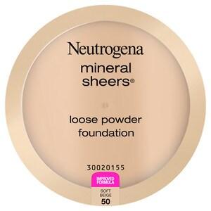 Neutrogena Mineral Sheers Loose Powder Foundation, Soft Beige 50