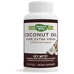 Nature's Way Coconut Oil Pure Extra Virgin 1,000mg, Softgels- 120 ea