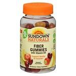Sundown Naturals Fiber Gummies with Vitamin D3, Orange- 50 ea