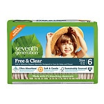 Seventh Generation Free & Clear Baby Diapers, Stage 6, 35+ lbs, 5 pk- 20 ea