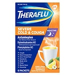 TheraFlu Nighttime Severe Cold & Cough Packets, Honey Lemon,
