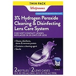 Walgreens Sterile Hydrogen Peroxide Cleaning & Disinfecting Lens Care System- 24 oz