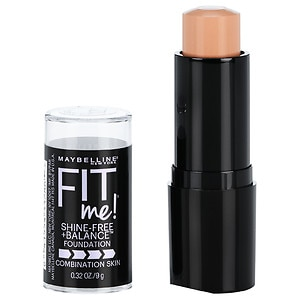 Maybelline Fit Me! Shine Free Foundation, Classic Ivory 120- .32 fl oz