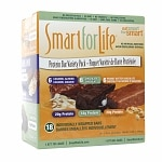 Smart for Life Protein Bar Variety Pack, Caramel Almond, Chocolate & Peanut Butter Chocolat- 18 ea