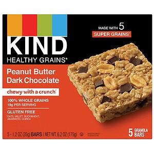 KIND Healthy Grains Granola Bars, Peanut Butter Dark Chocolate- 1.2 oz