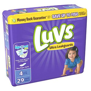 Luvs with Ultra Leakguards, Size 4 Diapers- 29 ea