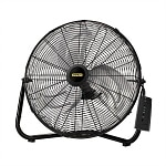 Lasko 655650 Stanley Remote Control 20 in High Velocity Floor Fan Quickmount, Black- 1 ea