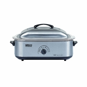 Nesco 18 Qt. SS Base, Cover & SS Cookwell, Stainless Steel
