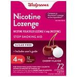 Walgreens Nicotine Lozenge, 4mg, Cherry- 72 ea