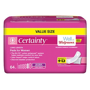 Walgreens Certainty Pads for Women, Maximum Long, Large