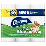 Charmin Sensitive Toilet Paper, Mega Rolls- 9 ea