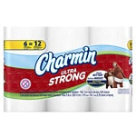 Charmin Ultra Strong Toilet Paper Double Rolls- 6 ea