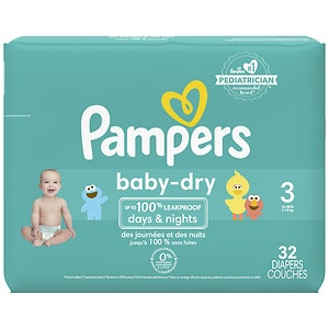 Pampers Baby Dry Diapers Size 3 Jumbo Pack, 32 ea