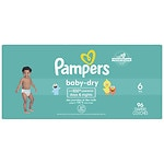 Pampers Baby Dry Diapers Size 6 Giant Pack- 96 ea