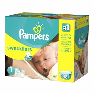 Pampers Swaddlers Diapers Size 1 Giant Pack, 148 ea
