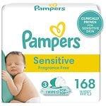 Pampers Sensitive Wipes Travel Packs , 3 pk- 56 ea