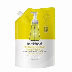 method Foaming Hand Wash Refill, Lemon Mint- 28 fl oz