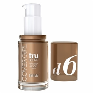 CoverGirl TruBlend Liquid Makeup, Toasted Almond D6, 1 fl oz