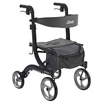Drive Medical Nitro Euro Style Rollator Walker, Black- 1 ea
