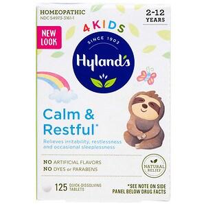 Hyland's 4 Kids Calm 'n Restful Quick-Dissolving Tablets- 125 ea