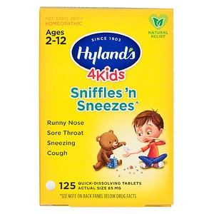 Hyland's 4 Kids Sniffles 'n Sneezes Quick-Dissolving Tablets