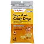 Walgreens Sugar Free Cough Drops, Honey Lemon