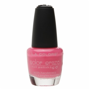 L.A. Colors Color Craze Nail Polish, Pink Bubbles- .44 fl oz